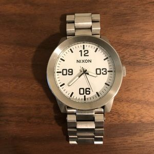 Nixon Watch - Stainless Steel band with white face